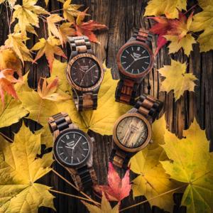 Houten horloge ZW074A