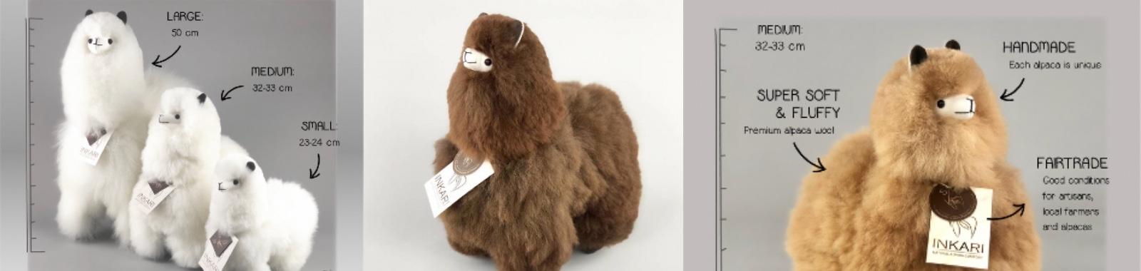 Zachte alpaca knuffel