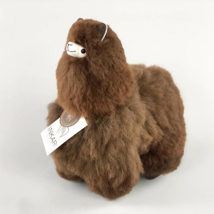 Modelfoto Medium alpaca dark brown